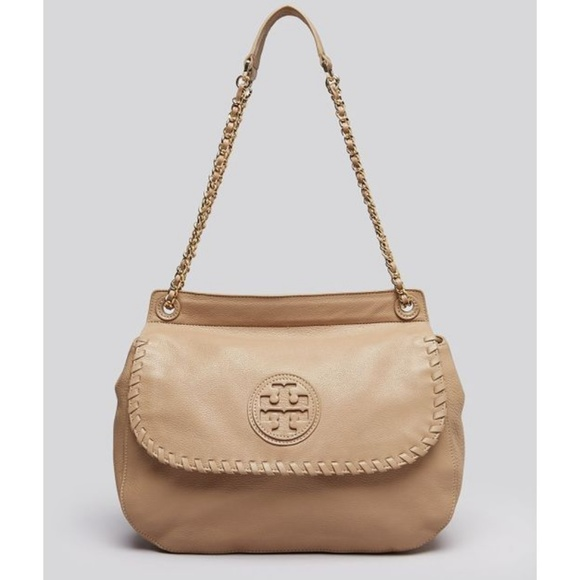 8aba9dabe2c8 Tory Burch Marion saddle chain crossbody tan